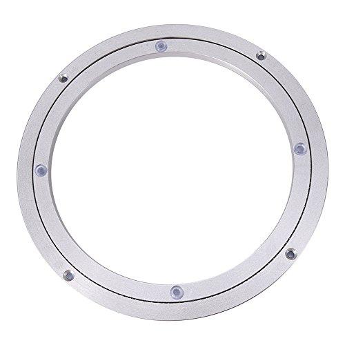 Drehkranz aus Aluminium, 360° Drehlager Drehteller Drehscheibe für Esstisch/Speisetisch(10 Zoll x H 8.5MM)