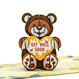 CUTPOPUP Teddy Bear Pop Up 3D Birthday Card, Get Well soon Card Pop Up, for Daughter, Son, Niece, Nephew, Kids - Great Pop Up Gift on Family's day, Birthdays, Christmas, New Year.