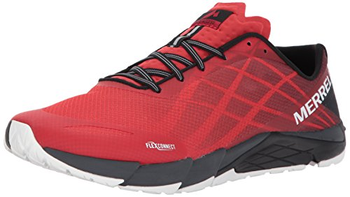Merrell Men's Bare Access Flex Trail Runner, High Risk Red, 10.5 M US