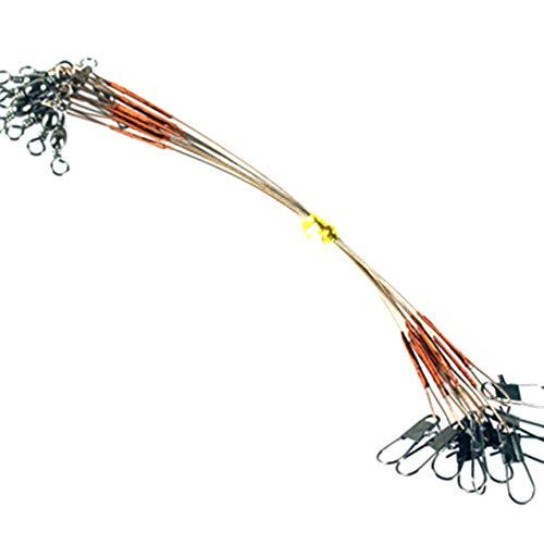 Bomcomi 10pcs Líderes del Hilo de Pescar Alambre de Acero Inoxidable Trenzado de Acero Pesca Spinning traza Líder línea de Pesca Aparejos de Alambre de Acero