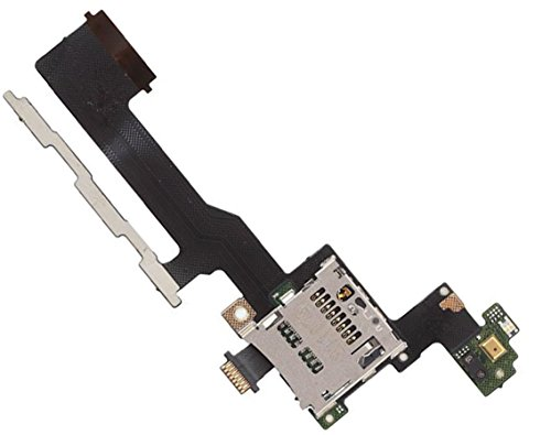 by Walking Slow-Replacement for HTC One M9 Power On Off Volume Button Switch Flex Cable with SD Card Reader & Volume Power Button Flex Part