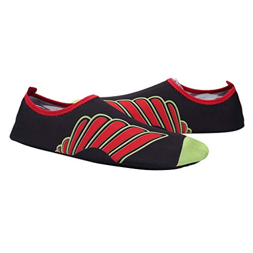 F Fityle Zapatos Antideslizantes de Agua para Yoga Natación Piscina Vela Canotaje Pesca Surf y Caminar por Playa con Familia - Rojo 39 40