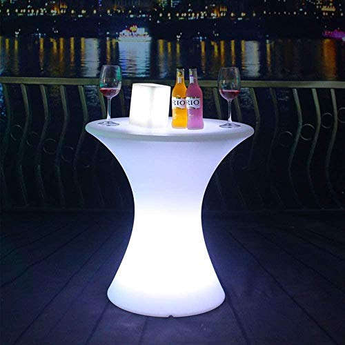 Cube Hocker Mood Light Stuhl Sitzmöbel für Gartenparty LED Square Bar Clear Restaurant Tischlampe Innendekoration Nacht Outdoor wasserdichte dekorative Beleuchtung Home (Farbe: Tabelle)-Tabelle ITER