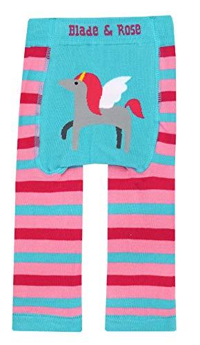 Blade & Rose Leggings, diseño de unicornio multicolor Pink/Blue 0-6 Meses