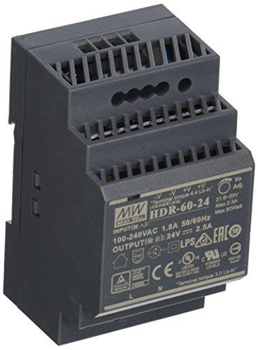 Mean Well HDR-60-24 Netzteil-1 Ausgang-60 W-Hutschienenmontage-24 V 2.5 A-Für Industrielle Anwendung