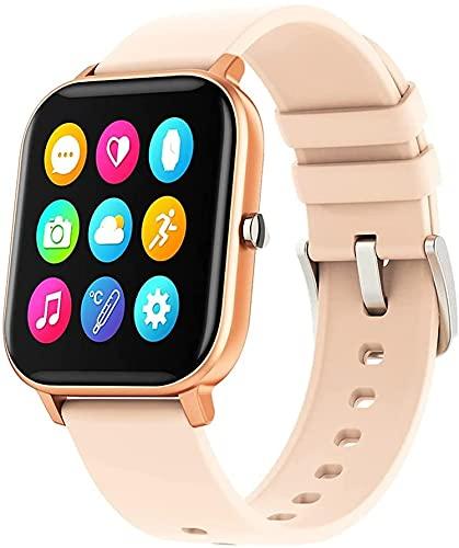 QHG Reloj Inteligente Reloj Inteligente, Temperatura Corporal Smartwatch, rastreador de Fitness con Monitor de Ritmo cardíaco Monitor de sueño, para Hombres Mujeres compatibles con iOS Androide