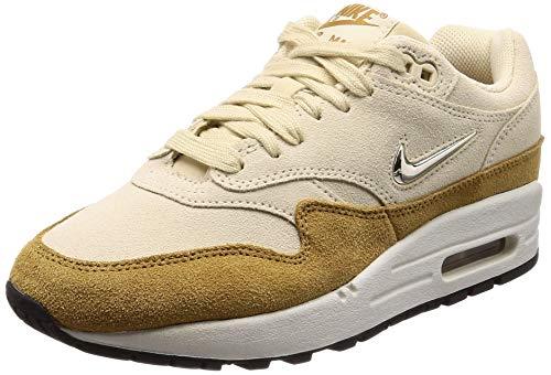 Nike Women's Air Max 1 Premium Beach/Muted Bronze/Metallic Gold Grain AA0512-200 (Size: 7.5)