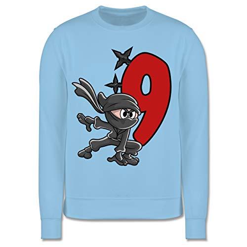 Shirtracer Kindergeburtstag Geschenk - Ninja Geburtstag 9-152 (12/13 Jahre) - Hellblau - Ninja - JH030K - Kinder Pullover