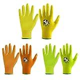 FACELANDY 3 Paar Kinder-Gartenhandschuhe für Kinder im Alter von 2–13 Jahren, Bonbonfarben, Kinder-Gartenhandschuhe mit gummierter Handfläche für Mädchen und Jungen (Size 2(Age 2-4), 3 Farben)