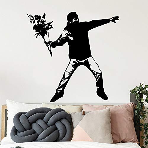 Tianpengyuanshuai Mode Bild Wandtattoo Home Decoration wasserdichte Wandaufkleber Schlafzimmer Dekoration 42X42cm