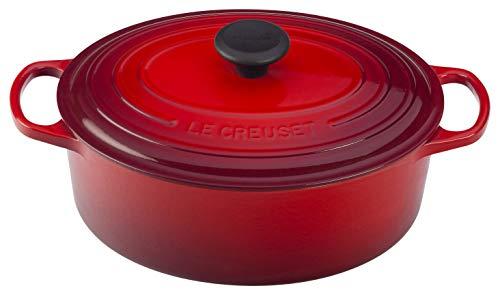 Le Creuset Enameled Cast Iron Signature Oval Dutch Oven, 3.5 qt., Cerise