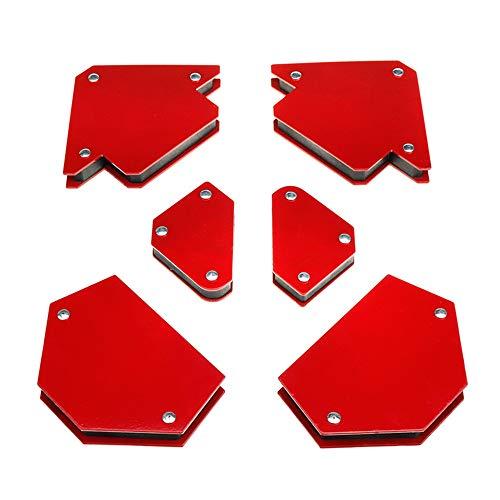 6Pcs Escuadras Magnéticas para Soldar Imán de Soldadura Soporte Magnético Soldadra Ángulos de 45° 90° 135° Posicionador de Soldadura Magnética para Soldadura Marcado Instalación de Tuberías