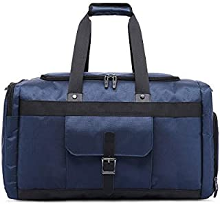 حقيبة السفر الجديدة من Gmddpjfl حقيبة اللياقة البدنية حقيبة الأمتعة ذات سعة كبيرة قابلة للطي حقائب السفر (اللون: الأزرق)