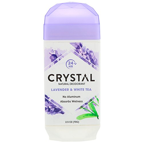 Crystal Deodorant Solid Stick 2.5 Ounce Lavender & White Tea (Pack of 2)
