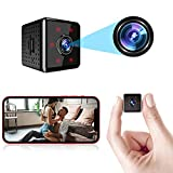 Mini Spy Camera Wireless Hidden WiFi Small Nanny Cam Baby Monitor 1080P HD Home Security Indoor Video Recorder with Live Feed Phone APP Night Vision Motion Detection