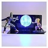 MOLUO 3D Luz de la Noche Dragon Ball Z 3D de la lámpara LED Son Goku Gohan Celular Luminaria Joven...
