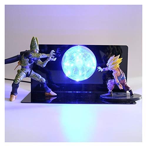 MOLUO 3D Luz de la Noche Dragon Ball Z 3D de la lámpara LED Son Goku Gohan Celular Luminaria Joven Bebé luz de la Noche Dormitorio Mesita de luz de la lámpara Decorativa for los niños