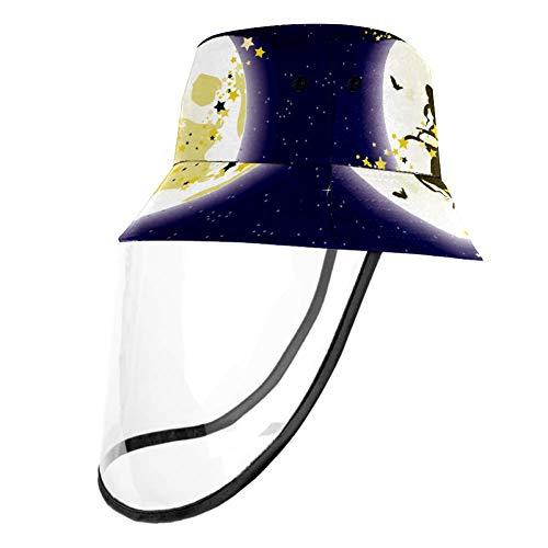 TIZORAX - Cappellino protettivo per strega volante per Halloween con protezione per naso e bocca, con protezione antipolvere per adulti e bambini