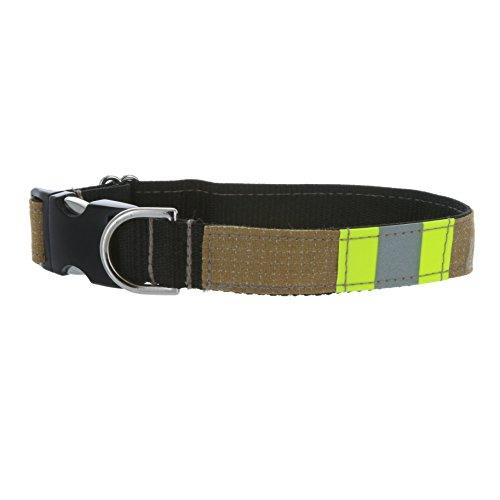 Firefighter Tan Reflective Dog Collar