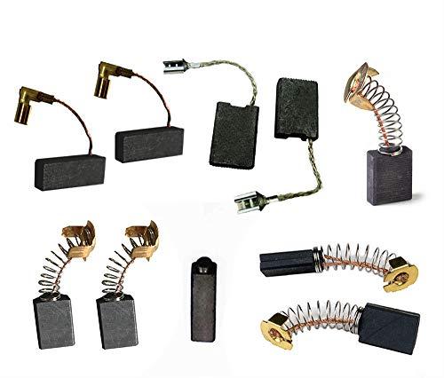 Powertool - Cepillos de carbono para motor (10 unidades, varios tamaños)
