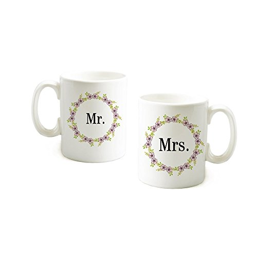 loQuenn Mr And Mrs Mug Sets-mr And Mrs Coffee Mug-Valentines Day Gifts for Her/Him-Wedding Regali per Coppia