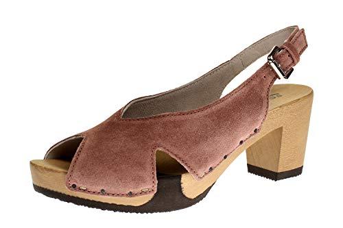 Softclox S3463 WIEBKE Kaschmir - Damen Schuhe offene Schuhe - 10-rosé, Größe:39 EU