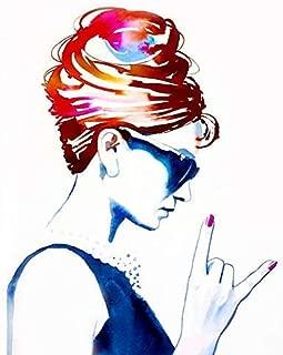 Audrey Rocks Fine Art Print - Unique Contemporary Art For Salon - Nail, Beauty & Hair Salon Decor Ideas (FBA)