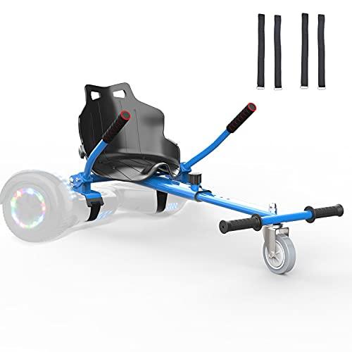 Hoverkart para Patinete Electrico Adulto Hoverboard niños Silla Kart para Self Balancing Scooter Overboard con Asiento 6.5/8 / 8.5/10 Pulgadas (Azul)