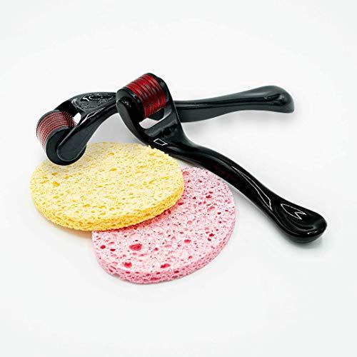 Dermaroller, rodillo facial con micro agujas de alta calidad. Pack de dos para cuidados de la piel, exfoliante facial, celulitis y retraso en la aparicion de arrugas-Apto para todo tipo de contorno