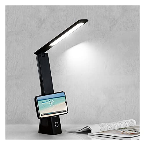 Lampada da Scrivania LED Lampada da Tavolo Protezione Occhi Lampada da Tavolo Senza Fili Ricaricabile 3 Temperature di Colore 3 Livelli di Luminosità Lampada Ufficio per Lettura Lavoro