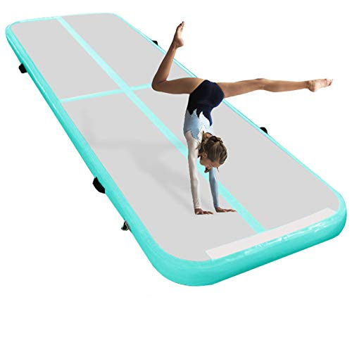 ZYZCBXZC 13 feet Inflatable Gymnastics Mats Air Track 4 Inch Tumbling Mat with Electric Pump for Home Use/Practice Gymnastics/Cheerleading/Yoga/Water Fun/Park