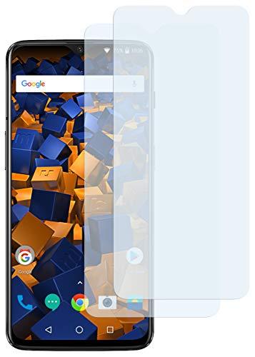 mumbi Schutzfolie kompatibel mit OnePlus 6T Folie klar, Bildschirmschutzfolie (2x)