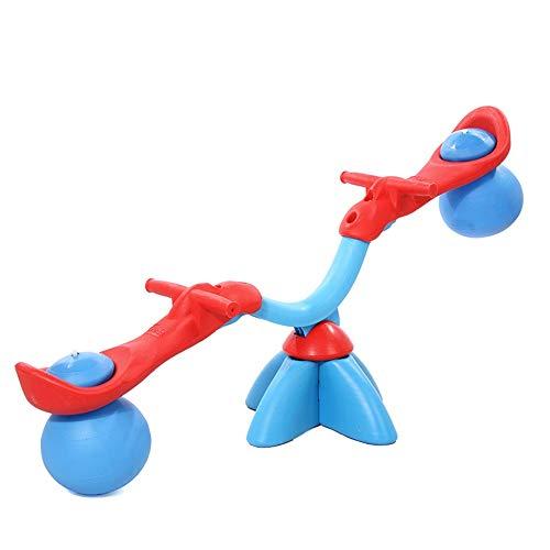 YBWEN Wippe Seesaw Swivel Teeter-Outdoor Fun for Kinder Kleinkinder Jungen Kinder Indoor und Outdoor-Spiele im Wohnzimmer Garten und Park Schaukelspielzeug (Farbe : Blau, Größe : 123x46cm)