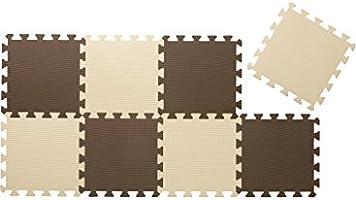 CBジャパン ジョイントマット(JOINTMAT) 厚め 12mm カラーマット チョコレート 30×30cm 8枚組