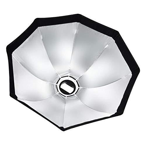 V BESTLIFE Softbox de Paraguas Octagonal de 55 cm / 65 cm con Mango para Flash Speedlite Studio Luz, con Montaje Estándar(55cm)