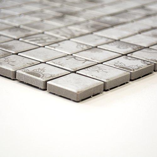 tessere di mosaico in ceramica grigio Bagno Cucina Piano muro WC 6mm nuovo # 366