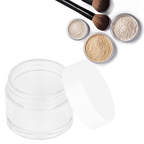 Étuis pour Contenants Cosmétiques, 10 Pots Transparents Rechargeables avec Couvercles Amovibles, Boîte de Lotion Crème pour la Bouche Large avec Doublure Intérieure pour Séparer les Cosmétiques Crèmes