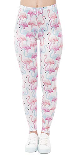 Kanora Women`s Leggings Work Out Running Power Flex Slim Fat Unicorn Leggings Yoga Pants (Unicorn Pink)