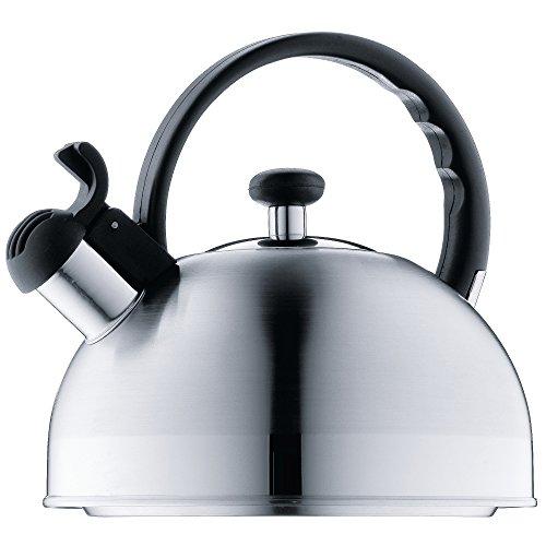 WMF ORBIT Hervidor de agua con silbato 1.5 L, hervidor de agua con flauta, acero inoxidable Cromargan, inducción