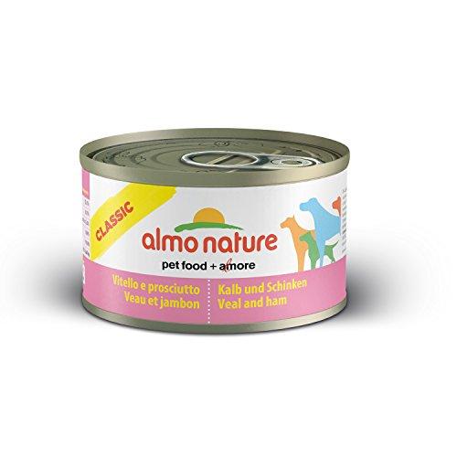 almo nature Comida Húmeda Natural de Ternera y Jamón (24 x 95 g). Alimento para Perros Monoproteíco Enlatado HFC Cuisine. Snack Complementario sin Gluten, 2280 🔥