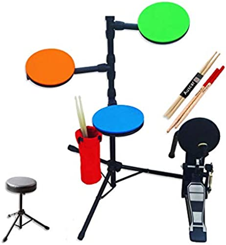 LINGLING-Trommel Kinder Stumme Trommel Set Trommel Multifunktionale Tragbare Reise Elektronische Trommel Erwachsene Praxis (Farbe   C)