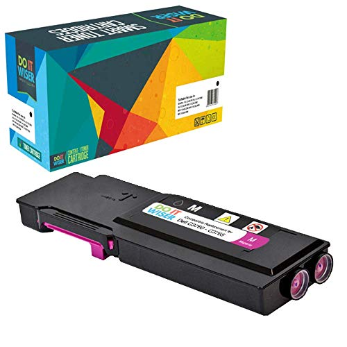 Do it wiser Compatible Toner Cartridge Replacement for Dell C3760 C3760n C3760dn C3765dnf (Magenta)