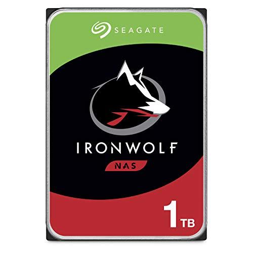 """Seagate IronWolf, 1 TB, Hard Disk SATA da 6 GBit/s, HDD, CMR 3,5"""" 5.900 RPM, Cache da 64 MB per NAS con Sistema RAID, 3 anni di servizi Rescue (ST1000VN002)"""