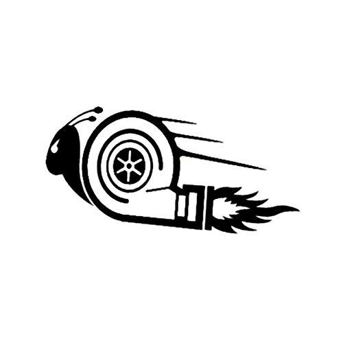 JXFM Grappige slakkenstickers voor auto, cool wandlamp, zwart/zilver, voor laptop, decoratie voor motorfiets, vinyl, 7,5 x 15 cm