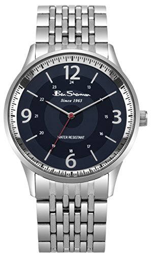 Ben Sherman Mens Analogue Classic Quartz Watch with Stainless Steel Strap BS001USM