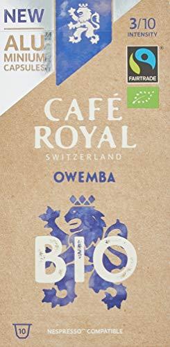 Café Royal Owemba Bio Fair & Organic Edition 10 Nespresso®* kompatible Kapseln (aus Aluminium, Intensität 3/10), 1er Pack (1 x 10 Kaffeekapseln)