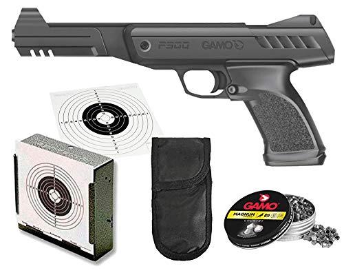 Tiendas LGP - Gamo- Pack Pistola Perdigón Gamo P-900 + Funda Portabalines + Porta Dianas Metálico + 250 Balines, Potencia 3,0 Julios