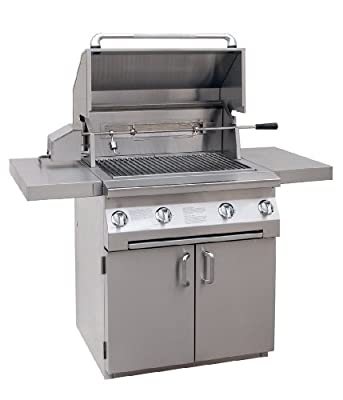 Solaire 30-Inch InfraVection Natural Gas Cart Grill with Rotisserie Kit, Stainless Steel