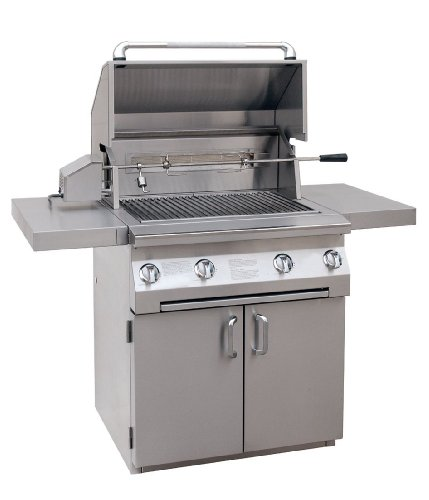 Solaire 30-Inch Infrared Propane Cart Grill with Rotisserie Kit, Stainless Steel 12-Month Bestsellers Financing Grilling Grills Propane