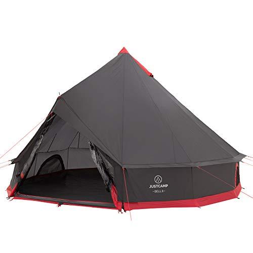 Justcamp Bell 8 Tipi tente de camping familiale, 8 personnes, tente pyramide